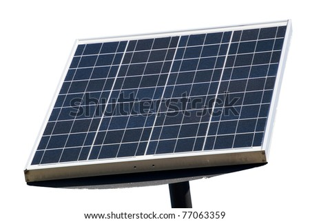 solar panel on white background