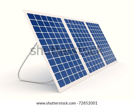 Solar panel over white background