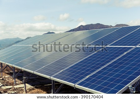 Solar Panel with blue sky