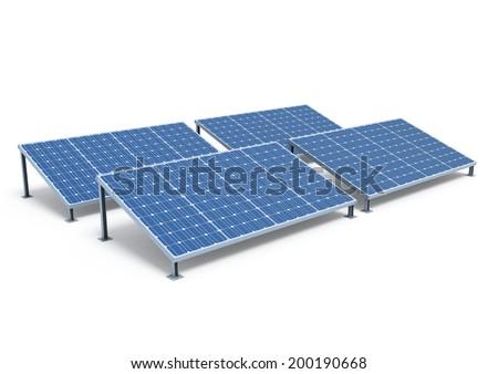 Solar Panels - stock photo