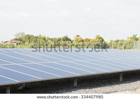 Solar Panels Against