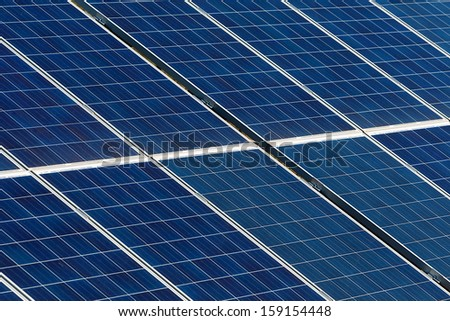 solar panels and Renewable Energy - stock photo