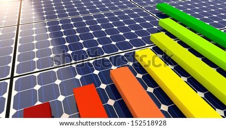 Solar Panels - Background  - stock photo