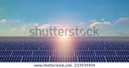 Solar Panels - Background - stock photo