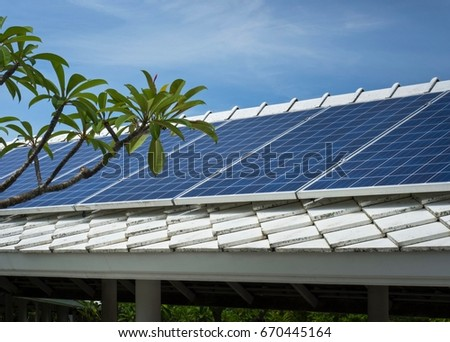 Solar Panels Design For Cover-Way Roof