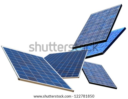 Solar panels energy - stock photo