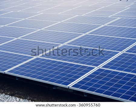 Solar Panels Energy saving Ecology Industry