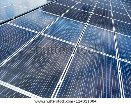 Solar panels - full frame for background - stock photo