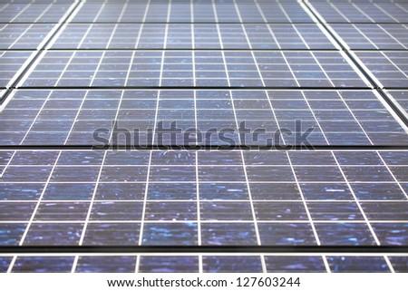 Solar panels - full frame for background - stock photo