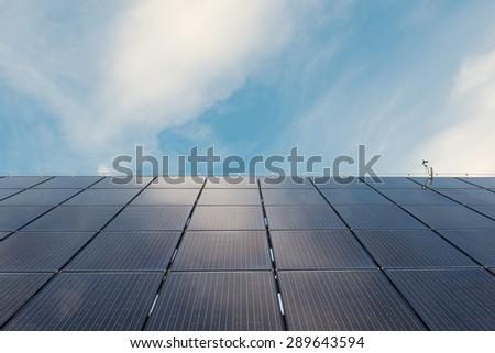 Solar panels. Green energy. Background. - stock photo