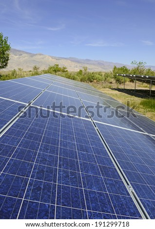 Solar Panels in a residential setting in sunny desert environment