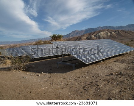 Solar panels in Death Valley 3