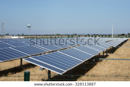 solar panels in portugal nature