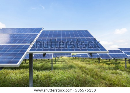 solar panels in power station alternative energy from the sun
