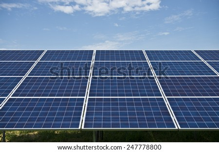 Solar panels in solar power station /Solar panels/