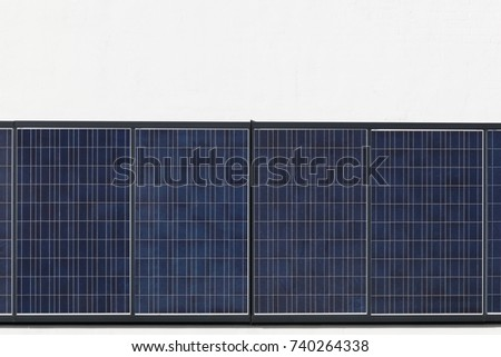 Solar panels on a wall