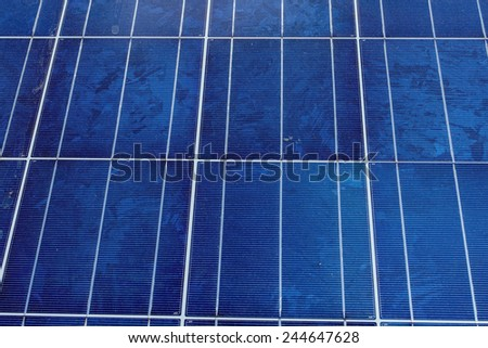 Solar panels or solar cell close up - stock photo
