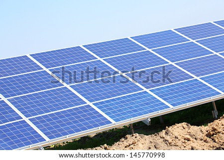 Solar panels, outside