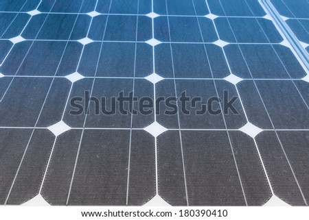 Solar Panels produce power, green energy concept - stock photo