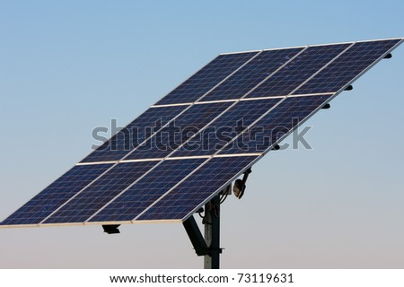 solar panels to produce alternative energy