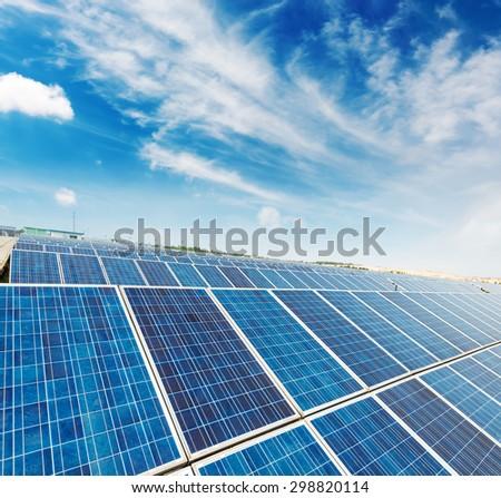 Solar panels - tracking system - stock photo
