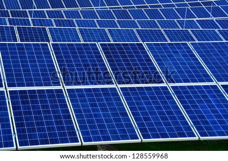 solar park blue electric energy