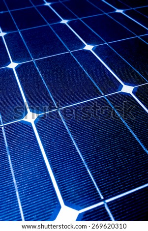 Solar photo voltaic cells for clean and ecological energy - stock photo