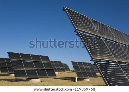 Solar Photovoltaic Panels - stock photo