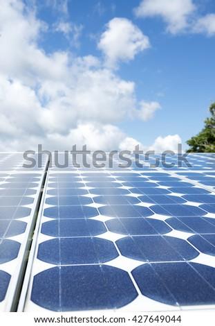 Solar plant - stock photo