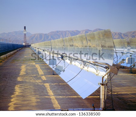 Solar plant at Barstow, California - stock photo