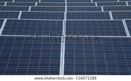 solar power panels - stock photo