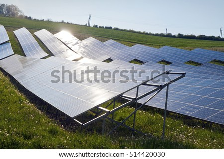 Solar power renewable sun  energy station