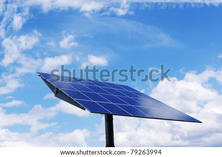 Solar power station: Clean, alternative energy.