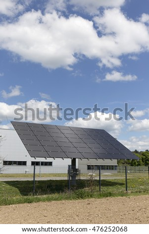Solar Power Station on the summer Meadow