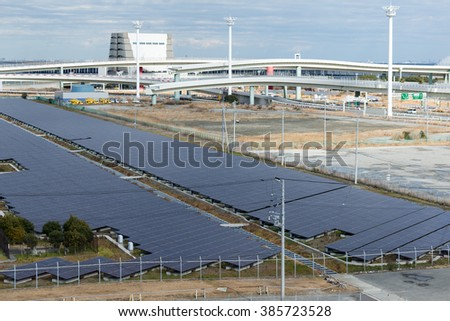 Solar power system in industrial city