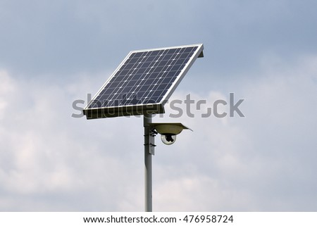 Solar Powered  Surveillance Camera