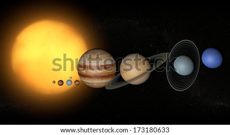 Solar System planets space universe sun, elements of this image furnished by Nasa