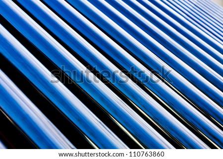 Solar water heater - stock photo