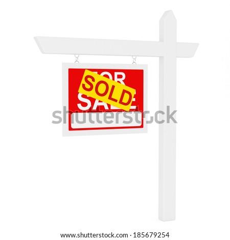 Sold - stock photo