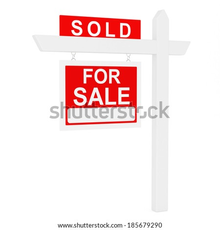 Sold - stock photo