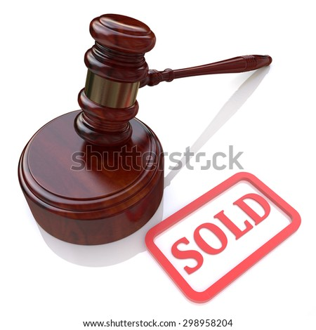 Sold at auction  - stock photo