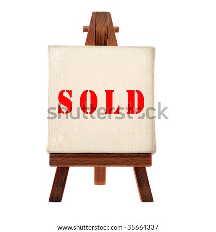 sold board - stock photo