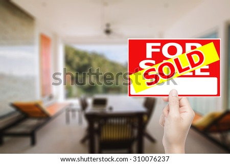 sold house sign
