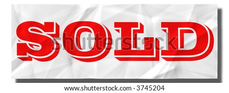 SOLD sign - stock photo