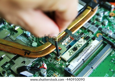 soldering electronic parts on printed circuit stock photo royalty rh shutterstock com