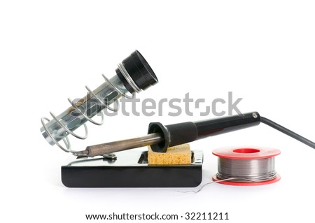 soldering station isolated on the white background