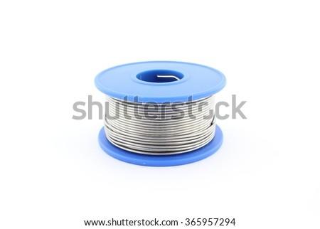 Soldering wire - stock photo