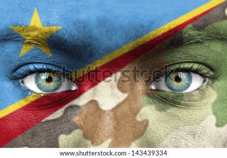 Soldier from Democratic Republic of Congo - stock photo
