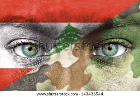 Soldier from Lebanon - stock photo