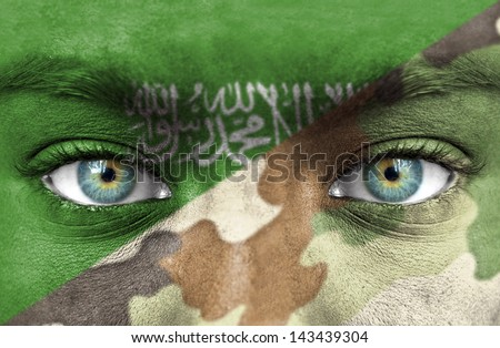 Soldier from Saudi Arabia - stock photo